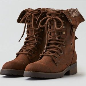 New American Eagle Lace Up Combat Boots